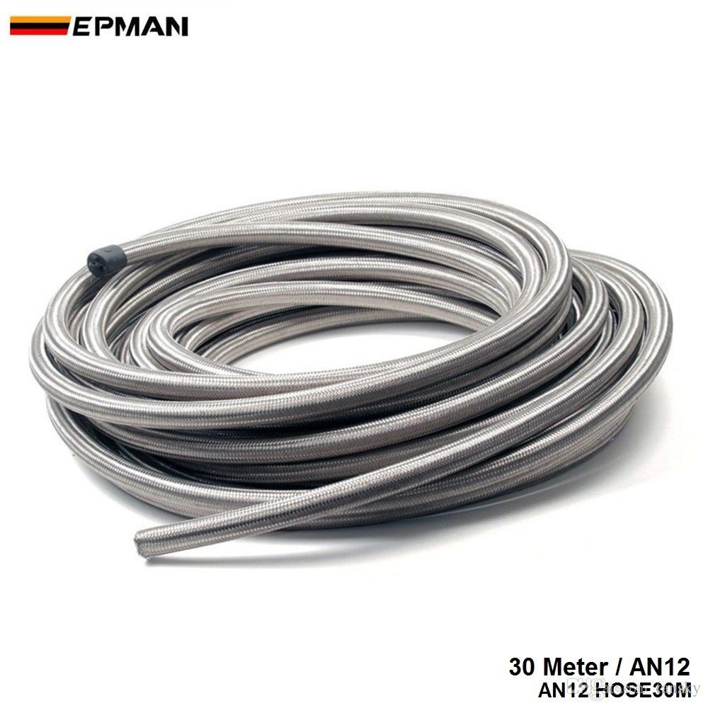 hight resolution of 30m an12 stainless steel braided fuel line oil gas hose for oil cooler fuel tank fuel filter fuel pump ep an12 hose30m