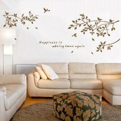 Wall Stickers Living Room Home Lighting Design Black White Coffee Birds On The Tree Branch Decal Art Sticker Bedroom Quote Mural Poster Cheap Children