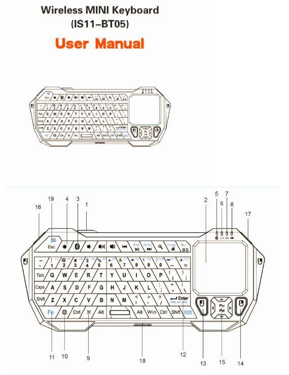 IS11 BT05 Mini Portable Wireless Keyboard Bluetooth V3.0