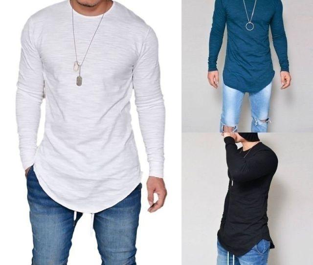 New Men Casual T Shirt Cotton Long Sleeve O Neck Silm Fit T Shirt Mens Fashion Solid Color Tshirt Mens Clothing M Xl Funny Team Shirts Trendy T