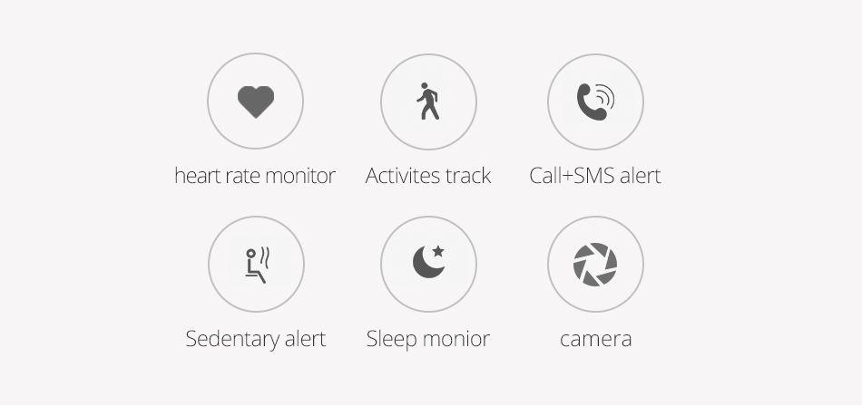 ID115 Heart Rate Monitor Smart Wristband Fitness Tracker