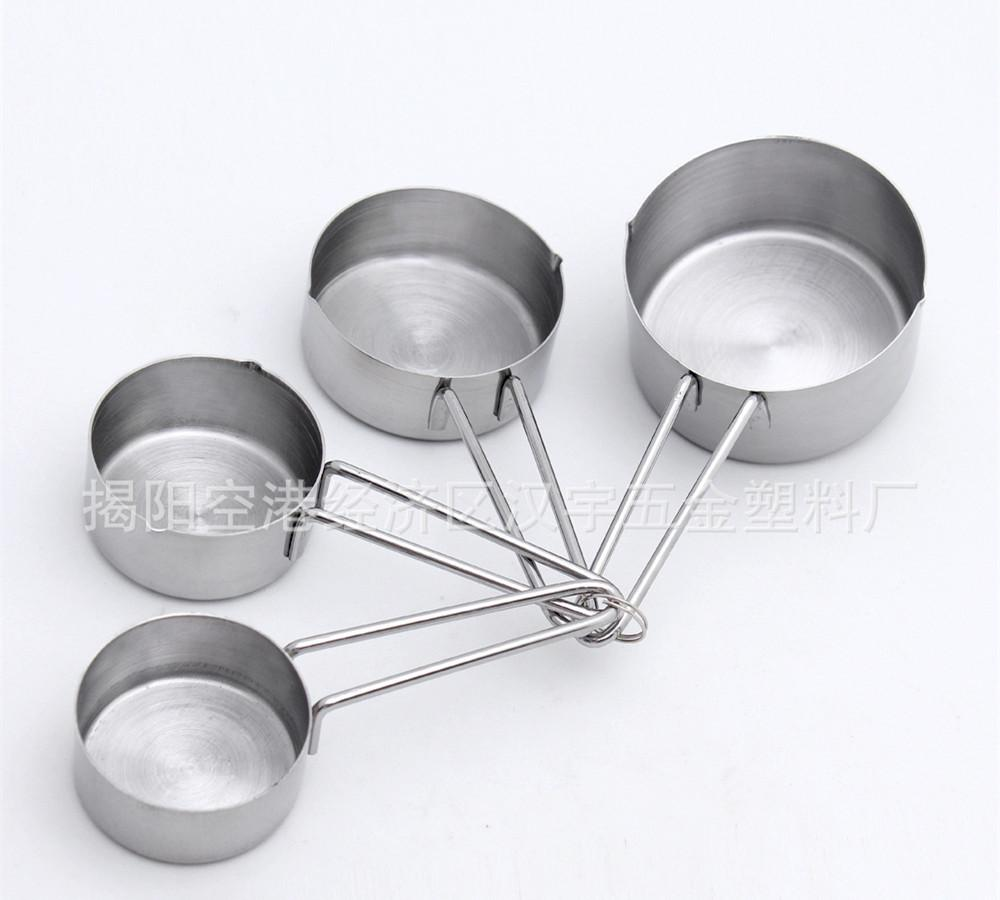 kitchen measuring tools kitchenaid 4 different capacity cups set stainless steel cup for cooking baking cakes
