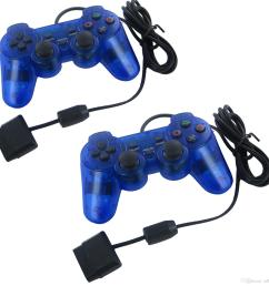 compatible with for sony ps2 yumqua original blue usb wire game controller  [ 1600 x 1600 Pixel ]