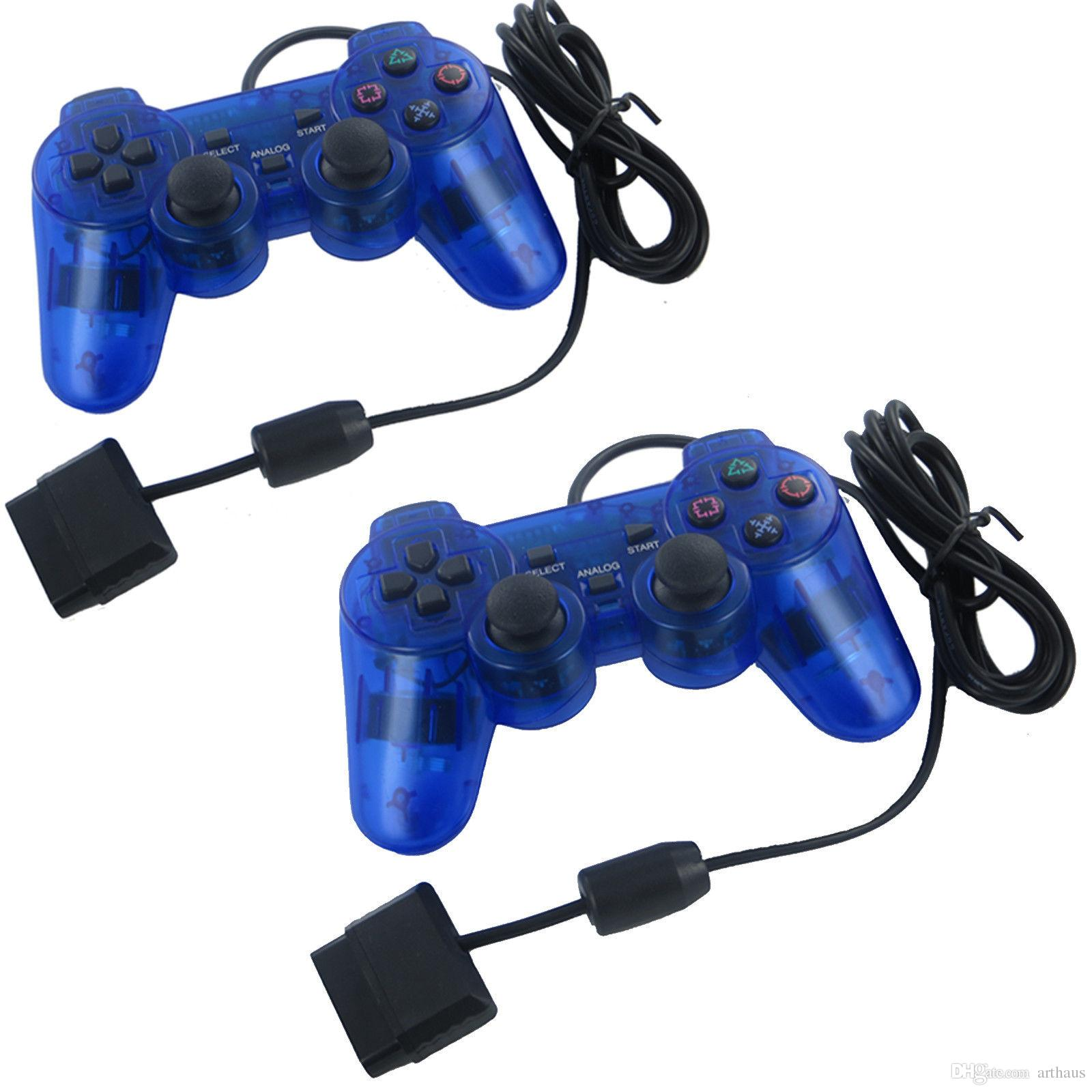 hight resolution of compatible with for sony ps2 yumqua original blue usb wire game controller