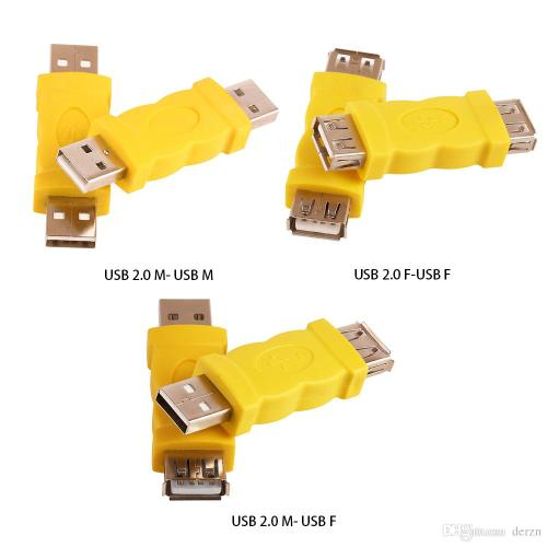 small resolution of usb connector yellow color usb a female jack to a female jack adapter usb 2 0 af to am adapter m to m converter usb a female jack to a female jack usb