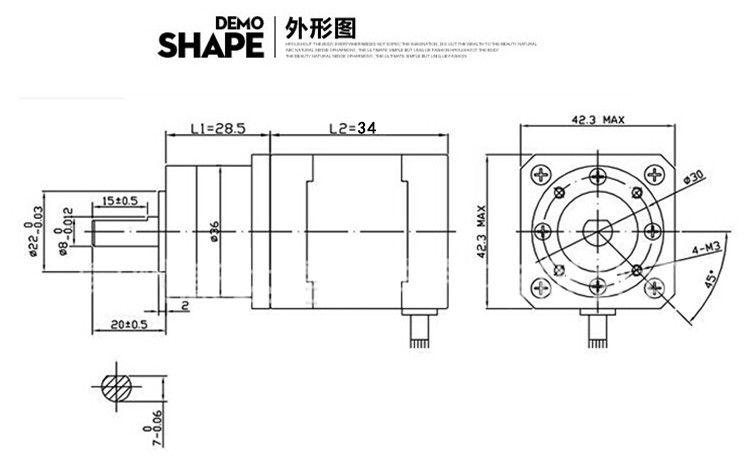 2020 RepRap 3D Printer Extruder Gear Stepper Motor 42