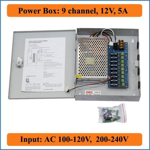 small resolution of 9ch port dc12v 5a cctv camera power box adapter switching power supply box distribution 9 channels input ac 100 240v to dc 12v power outlet with switch