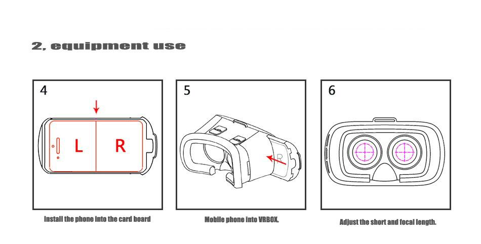 2016VR BOX II 2.0 Version Google Cardboard VR Virtual
