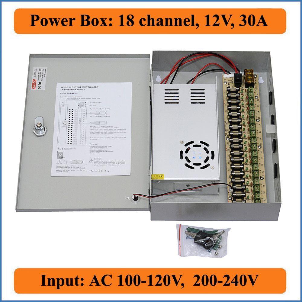 medium resolution of 18 channels dc12v 30a cctv camera power box ir illuminator control for dvr cctv cameras switching power supply box 18ch port 30a switch electricity provider