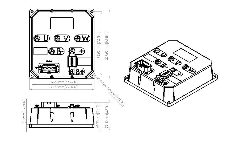 48~144v 10kw, Bldc Motor Controller For Electric