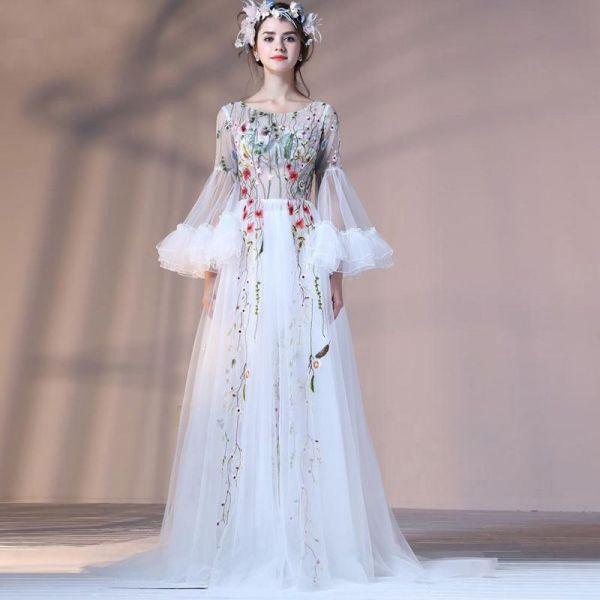 Fairy Greek Style Long Prom Dresses Vintage Evening Dress