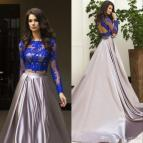 2 Piece Long Sleeve Prom Dresses
