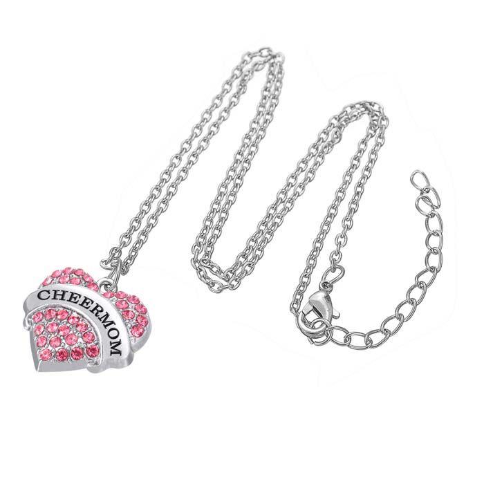 Wholesale Myshape Engrave Letter CHEER MOM Pendant