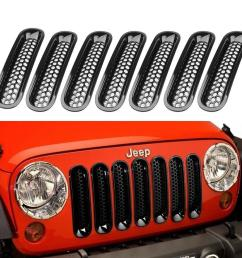 2019 black front grill mesh grille insert kit for jeep wrangle rubicon sahara jk 2007 2015 from spotlights 109 55 dhgate com [ 1100 x 1100 Pixel ]