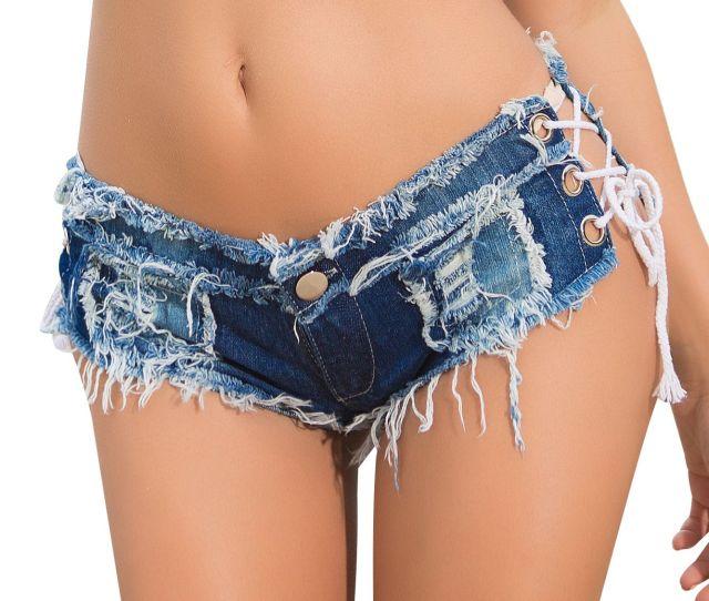2019 Summer Hot New Fashion Sexy Super Mini Shorts Ladies Thong Short Jeans Feminino Preto Denim Shorts Women Sexy Micro Shorts From Moshuichun