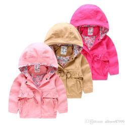 e6ab8b8729d0 Autumn Girls Hooded Jackets Hoodies New 2016 Korean Style Brand