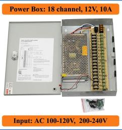 18 channels dc12v 10a cctv cameras power box security video cameras wall hang box switching power supply 18ch port 10a electrical outlets with switches  [ 1000 x 1000 Pixel ]