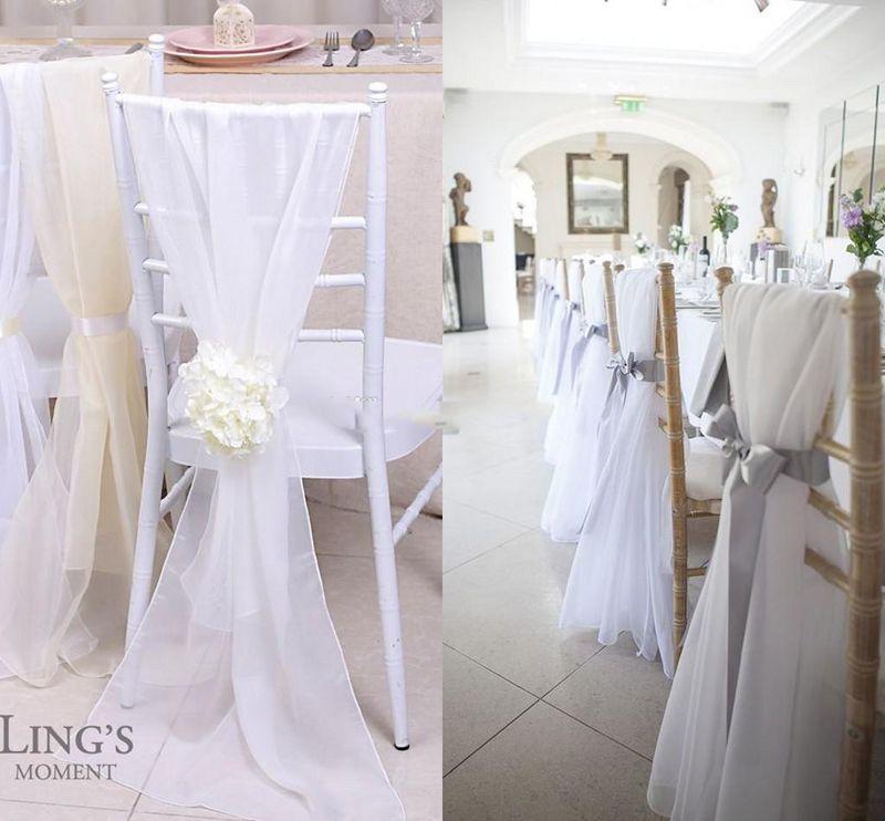 chair covers diy rocking glider 2019 factory lovely ivory new chiavari sashes 30d chiffon 150cm 50cm wedding bows custom made from weddingplanning