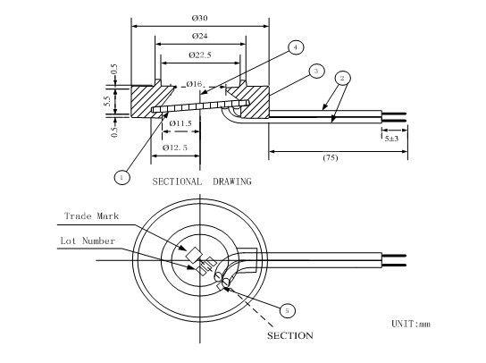 25mm*1.7MHz Bevel Ultrasonic Atomization Chip Board