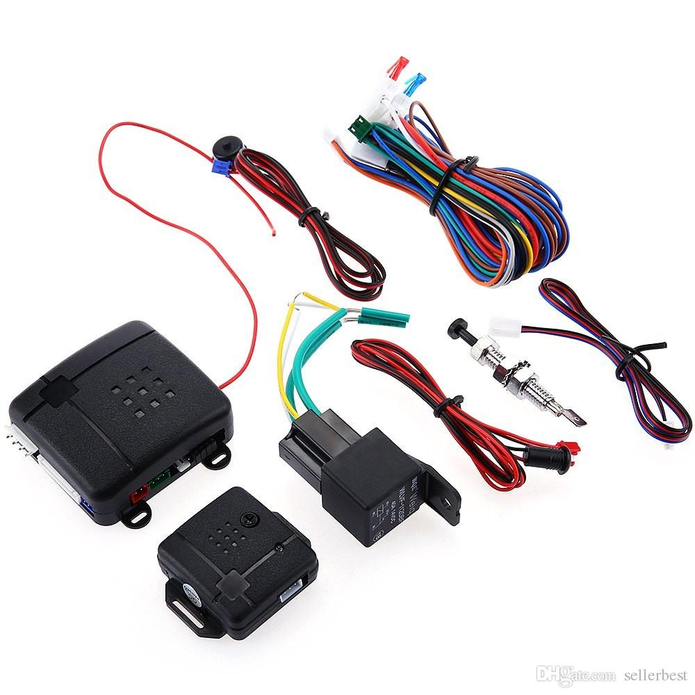 hight resolution of package contents 1 x main control unit 1 x sign horn 1 x vibrator 2 x remote control 1 x led connection wire 1 x emergency switch 1 x relay