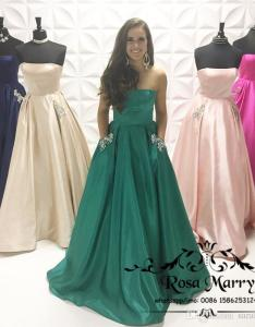 Emerald green plus size bridesmaids dresses with pockets  line strapless crystal country beach maid of honor cheap wedding guest gowns black also rh dhgate