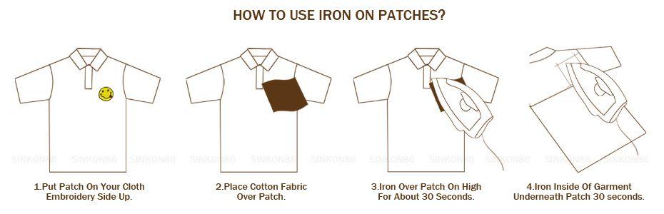 Risultati immagini per how to use iron on patches