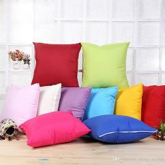 100 Polyester Sofa Throws White Slipcovered Sectional Sofas Home Throw Pillow Case Pure Color Cover Cushion Decor Blank Christmas Gift Sf09 Patio Couch Cushions