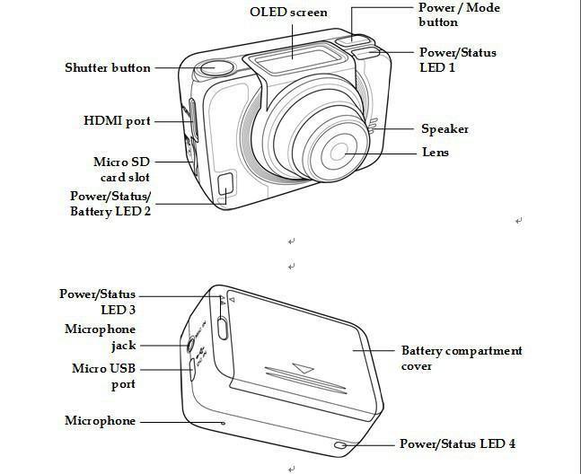 Luxury Selfie Cmos Sensor G8900 Sports Camera 60M