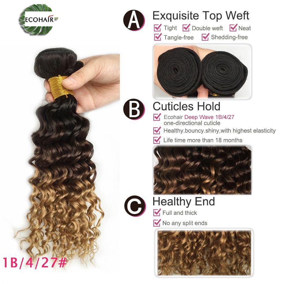 Malaysian Hair Weave Bundles Three Tone Ombre Malaysian