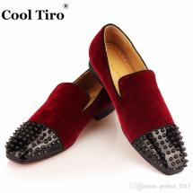 Toe Spikes Red Bottoms Loafers Men Slippers Spooky Flat