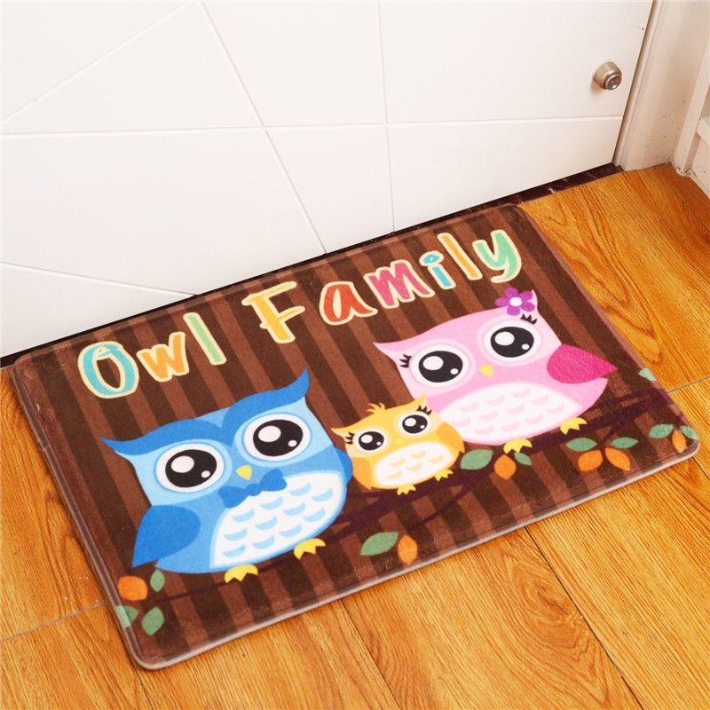 owl kitchen rugs driftwood table 2017 new home decor animal carpets non slip for living room floor mats 40x60 50x80cm buy rug cardog from yankai 14 48 dhgate com