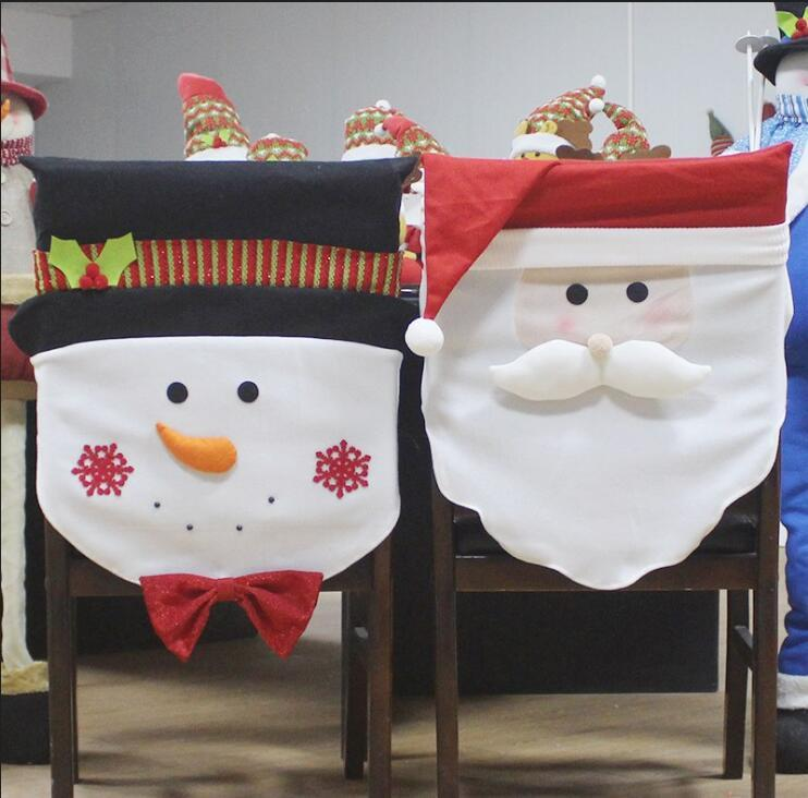 chair cover christmas decorations ergonomic kneeling benefits 2019 covers santa claus snowman party hotel restaurant holiday arrangement set from