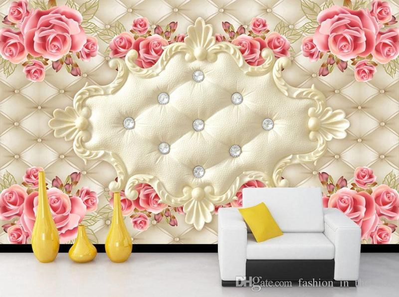 Luxury 3D Wallpaper Elegant Photo Wallpaper Rose Flower Wall Mural Interior Decoration Bedroom