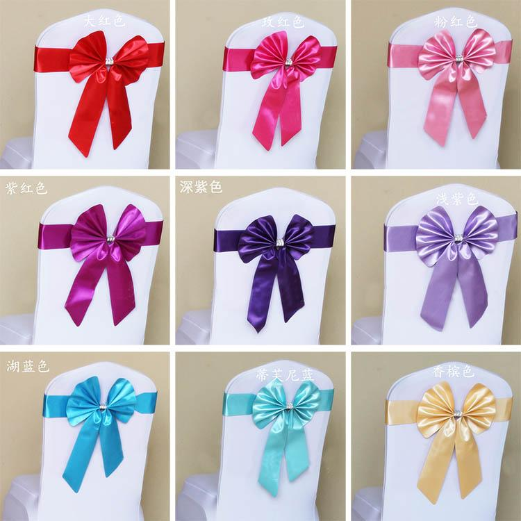 chair covers and sashes leg extensions butterfly self tie elastic cover band colorful ribbons bow wedding decoration banquet venue decorations supples bridesmaid sash