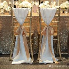 Wedding Chair Covers For Hickory Wing Fashiontaffeta Without Champagne Ribbon Seqined Organza Most Popular Favors Sashes Decorations