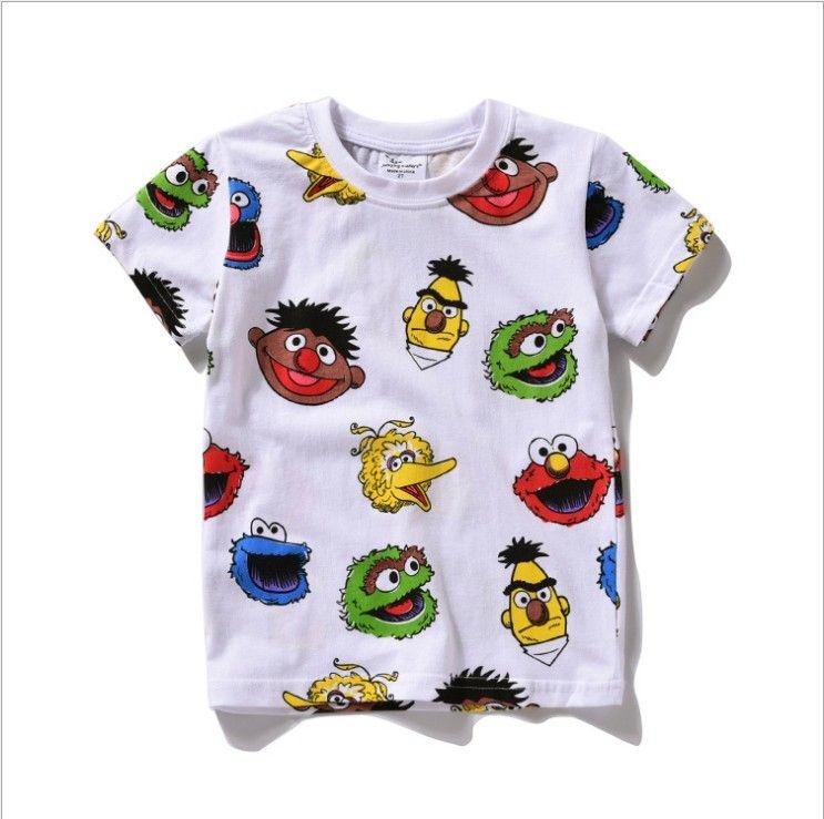 2019 2016 New Sesame Street Kids Children Tee Shirt Elmo T