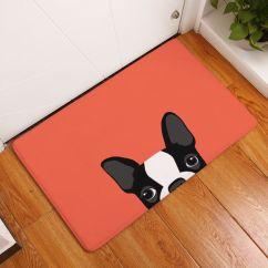 Cheap Kitchen Floor Mats Tiles For Cartoon Animal Pattern Lovely French Bulldog Anti Slip Carpet New Home Decor Doormat Bathroom Livingroom Mat Rug 40x60 50x80cm