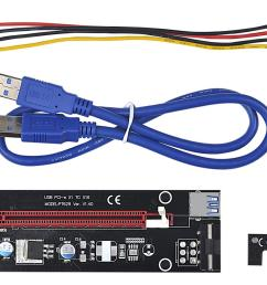 pci express x1 to x16 extender cable with big 4pin power supply and usb 60cm pcie 1x to 16x riser card adapter for bitcoin mining computer wires and  [ 1300 x 863 Pixel ]