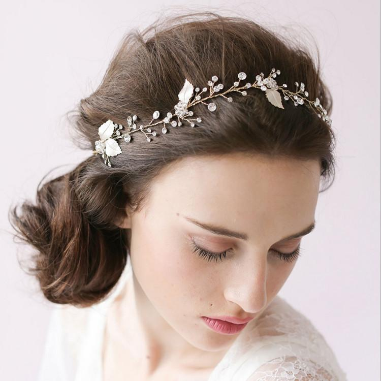 2016 latest glitter crystal handmade flexible bridal hair accessories fashion new style real sample wedding tiara wholesale hair headdress wedding