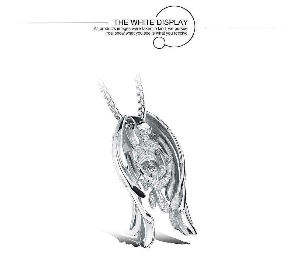 Compre Skeleton Angel Wings Design Collar Colgante Para