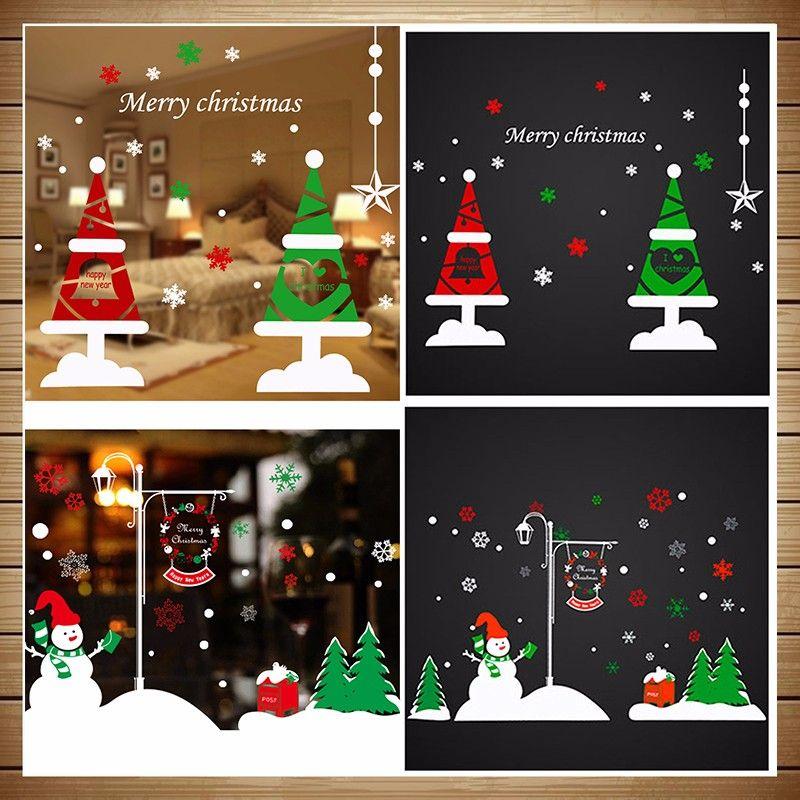 styles cm christmas window stickers vinyl diy star snow