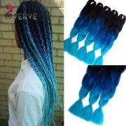 blue braiding hair high