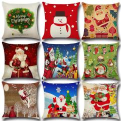 Christmas Chair Covers The Range Extra Large Office Pillow Cushions Printed Merry Sofa Home Textiles Pillowcase Without Core Gift Sunbrella Patio Wicker