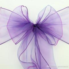 Purple Chair Sashes For Weddings Painting Plastic Chairs With Chalk Paint Hot Sale Organza Bow Cover Tulle Silk Ribbon Events Party Christmas Decoration Mint Green