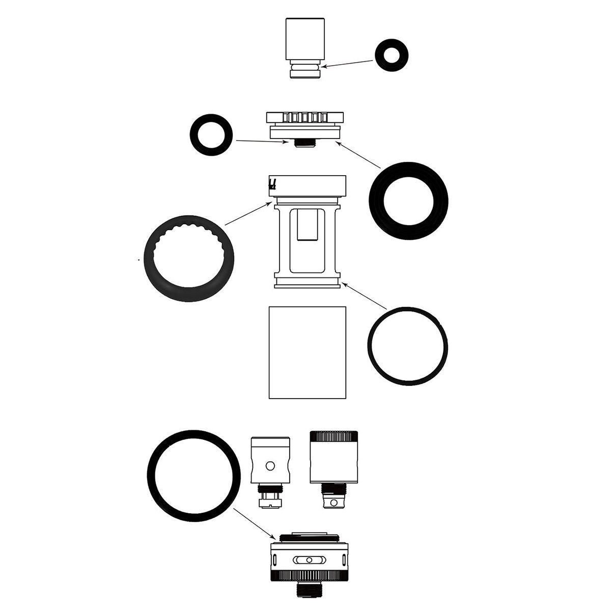100 Original Kanger Toptank Mini Silicon Seal Ring Set