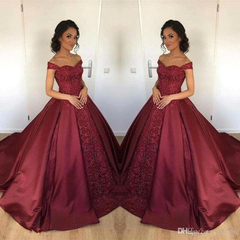 Burgundy 2018 Ball Gown Quinceanera Dresses New Off