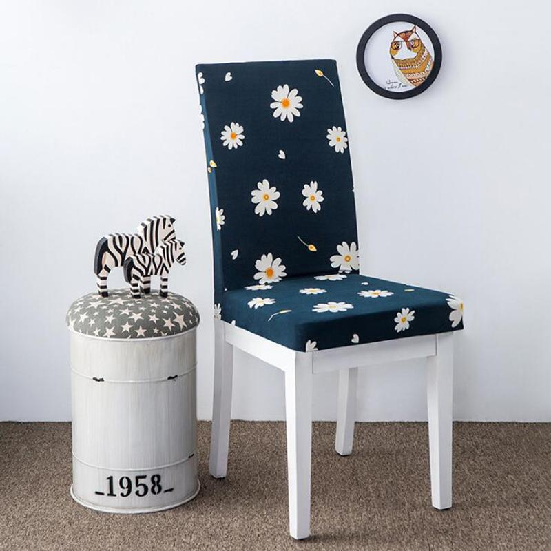 dining chair covers for home bariatric shower with arms and back floral print cover elastic spandex cloth universal stretch wedding armchair slipcover