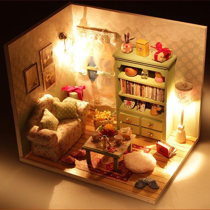 18 doll sofa diy grey real leather corner 2019 kids toys kits wood dollhouse miniature with led furniture cover house gift from edig 7 03 dhgate com