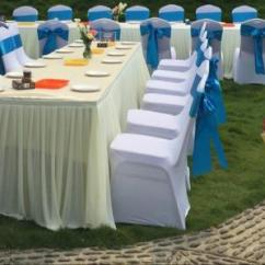 Chair Covers For Rent In Trinidad Inglesina High Tray Universal White Polyester Stretch Wedding Weddings And Ottoman Slipcovers Can Be Used Chairs Not To Regularly Avoid Dust Also Dining Sale Applied Special