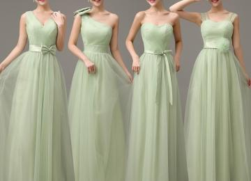 affc06df7e92 ... Light Green 2018 Floor Length Wedding Party Dress Lace Up · Scoop Neck  Bridesmaid Dresses With Lace Appliques Elegant ...